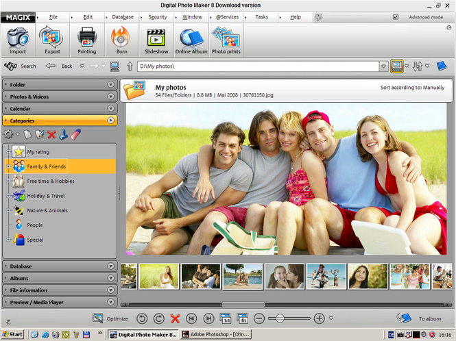 MAGIX Digital Photo Maker Screenshot
