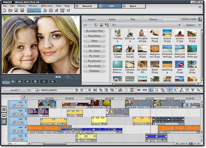 MAGIX Movie Edit Pro Screenshot 1