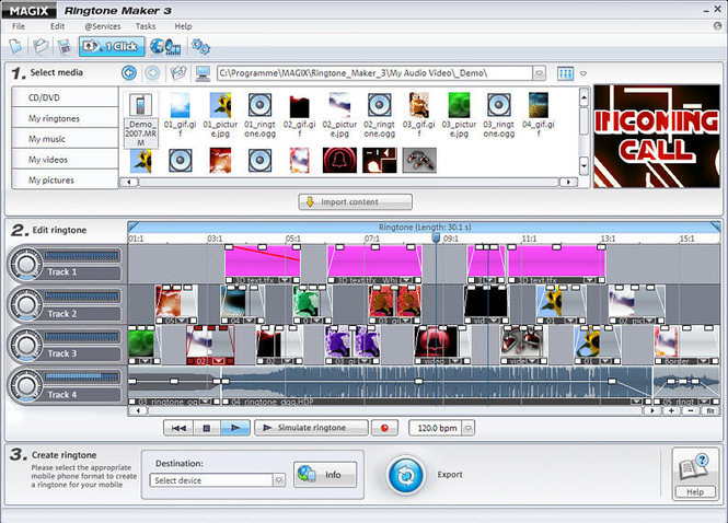 MAGIX Ringtone Maker Screenshot