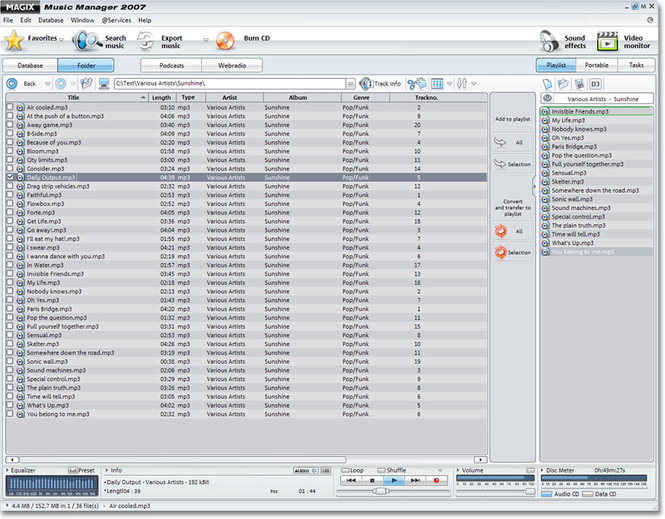 MAGIX Music Manager Screenshot 1