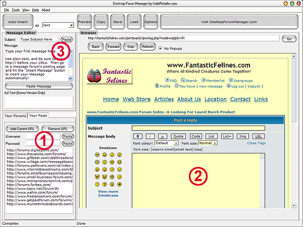 Desktop Forum Manager Screenshot