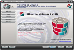 DBSync for Access & MySQL Screenshot