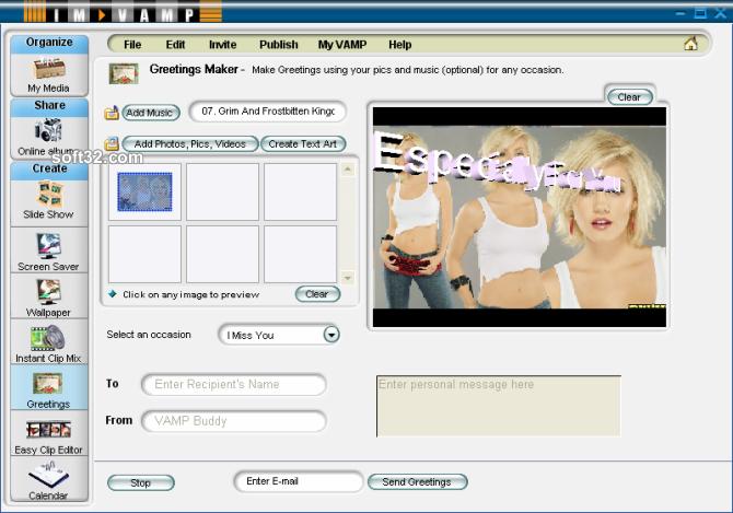 VAMP Media Center Screenshot 3