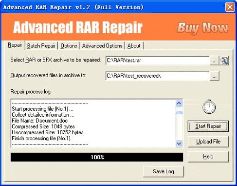 Advanced RAR Repair Screenshot