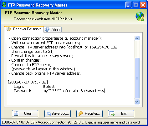 Drek FTP Password Recovery Master Screenshot