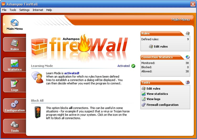 Ashampoo Firewall FREE Screenshot 1