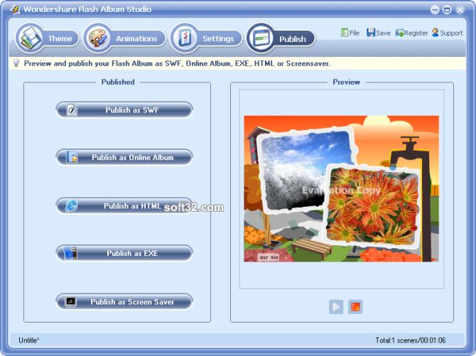 Wondershare Flash Album Studio Screenshot 5