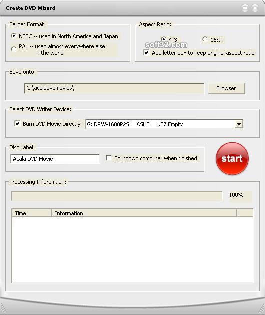 Acala DVD Creator Screenshot 3
