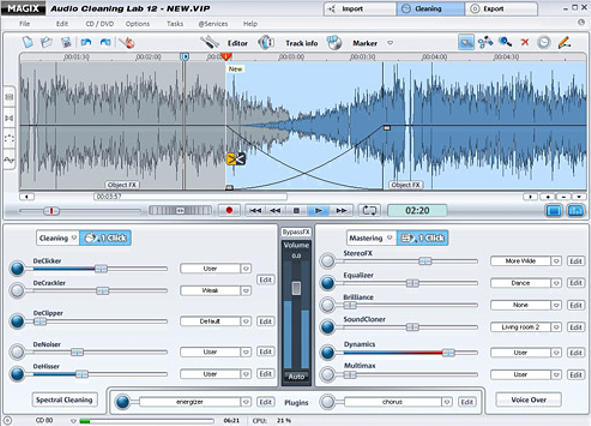 MAGIX Audio Cleaning Lab Screenshot