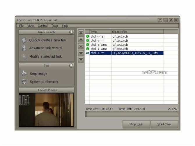 DVDConvert Std Screenshot