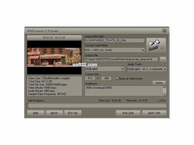DVDConvert Home Screenshot