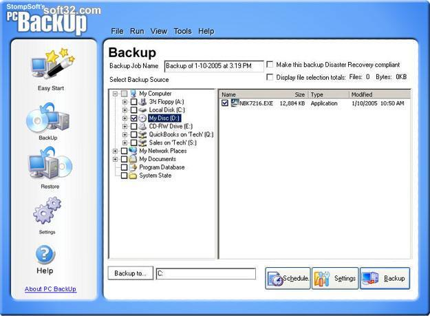 PC Backup Screenshot