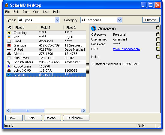 SplashID Password Manager Screenshot