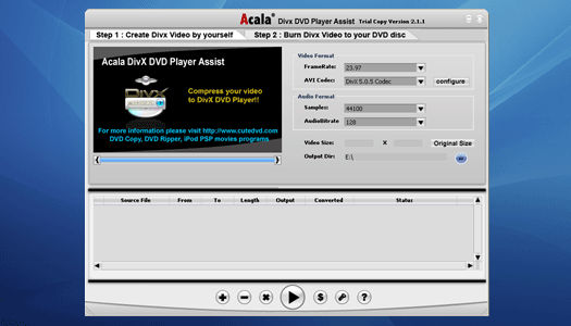 Acala DivX DVD Player Assist Screenshot