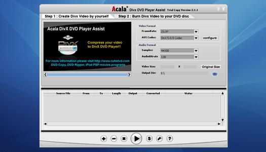 Acala DivX DVD Player Assist Screenshot 1
