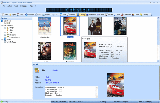 ReportCD Collection Manager Screenshot