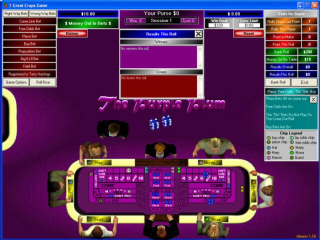 1 Great Craps Game Screenshot