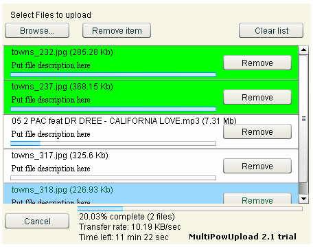MultiPowUpload Screenshot 1