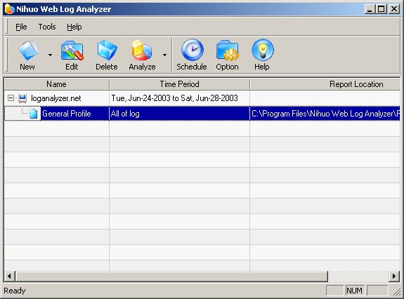 Nihuo Web Log Analyzer for Windows Screenshot 1