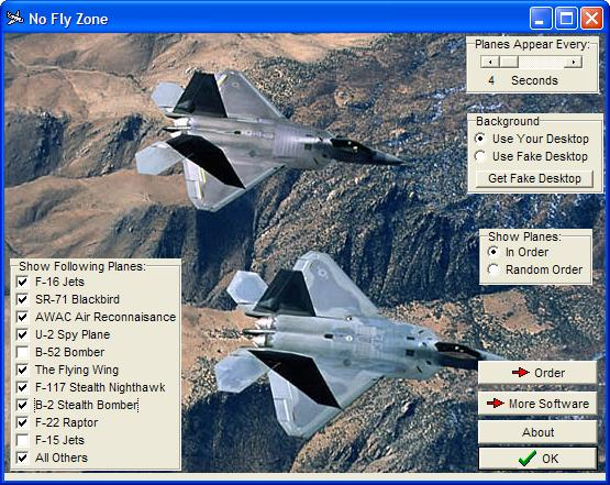 No Fly Zone Screensaver Screenshot