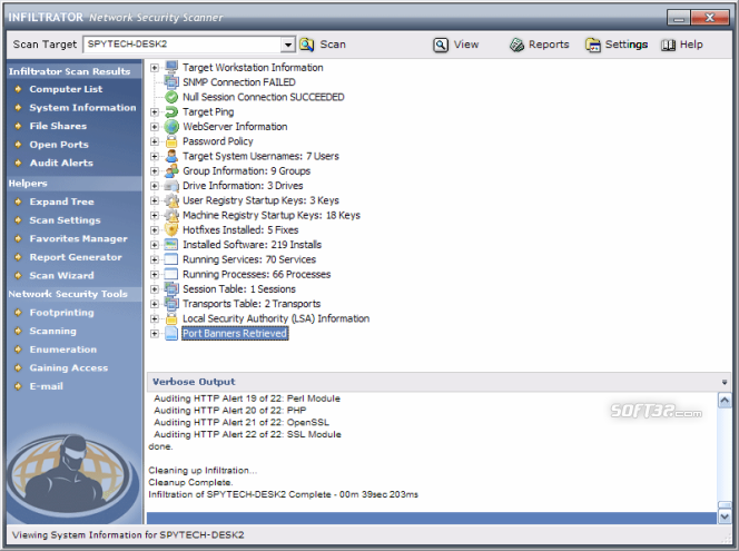 Infiltrator Network Security Scanner Screenshot 2