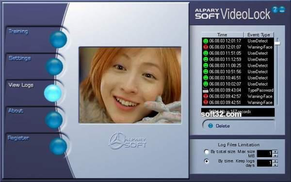 Alparysoft VideoLock for Webcam Screenshot