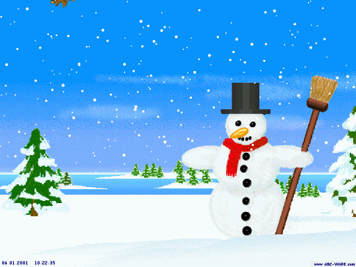 Happy Snowman Screensaver Screenshot