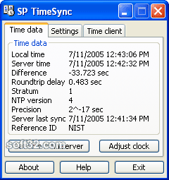 SP TimeSync Screenshot 2