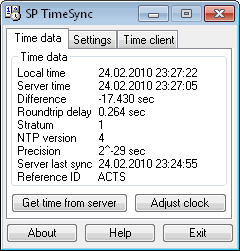 SP TimeSync Screenshot