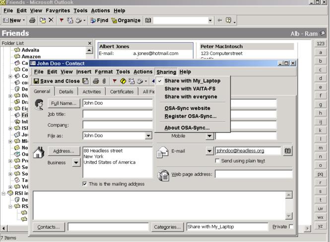 OsaSync PRO Screenshot