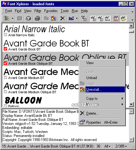 Font Xplorer Screenshot 3