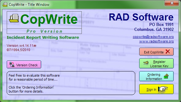 CopWrite Screenshot 1