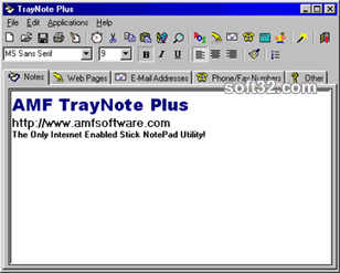 TrayNote Plus Screenshot