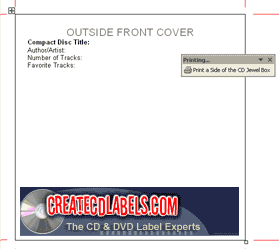 CD and DVD Jewel Case and Label Creator Screenshot