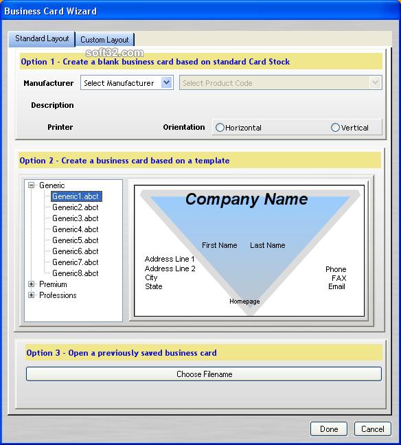 Business Card Creator for Word Screenshot 2