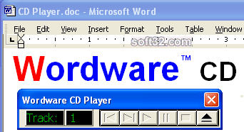 Wordware CD Player for Word Screenshot 1