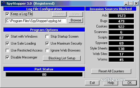 SpyStopper Screenshot 3