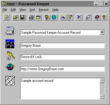 Password Keeper 2000 Screenshot
