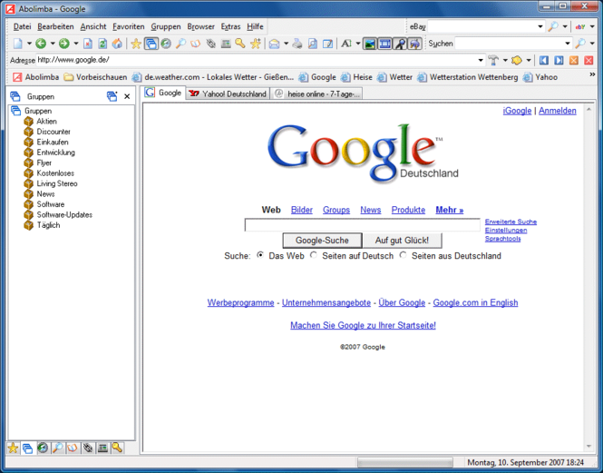 Abolimba Multibrowser Screenshot