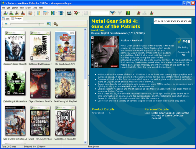 Collectorz.com Game Collector Screenshot 1