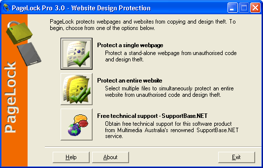 PageLock Website Copy Protection Screenshot