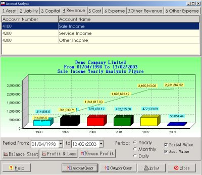 MemDB Accounting System Screenshot 1