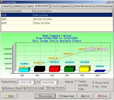 MemDB Accounting System Screenshot 3