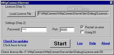 HttpConnect Screenshot