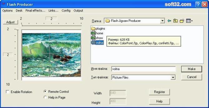 Flash Jigsaw Producer Screenshot 2