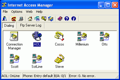 Internet Access Manager Screenshot 1