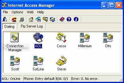 Internet Access Manager Screenshot 2
