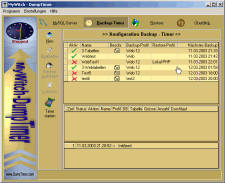 MySQL Dump Timer Screenshot