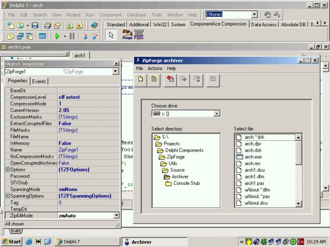 Delphi ZIP Component ZipForge Screenshot
