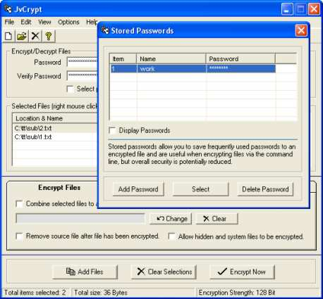 JvCrypt Screenshot 1